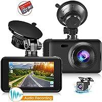 Ssontong 1080P Full HD Wide Angle Dual Car Dash Camera with Night Vision WDR G-Sensor Parking Monitor Loop Recording Motion Detection