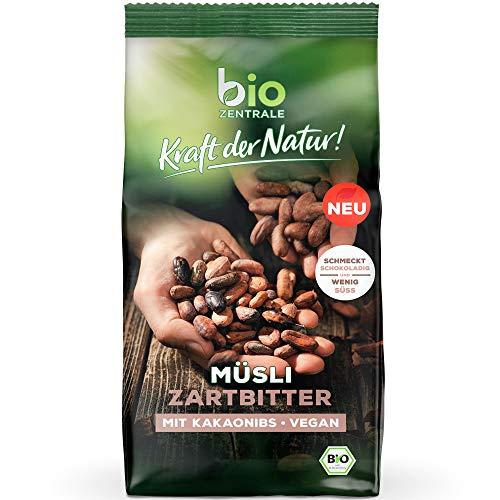 biozentrale Müsli Zartbitter   500g Zartbitter Müsli Bio vegan   Ideal zum Frühstück und für den Müslibecher 2 go   Alternative zum Müsli Riegel