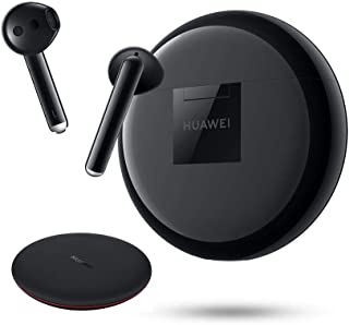 HUAWEI FreeBuds 3 Bundle(+ Wireless Charger) - Wireless Earphone with Intelligent Noise Cancellation (Kirin A1 Chipset, Ultra-Low Latency, Fast Bluetooth Connection, Quick Wireless Charging), Black