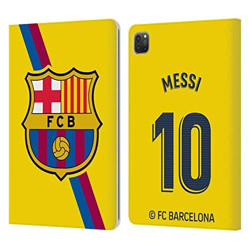 Head Case Designs Oficial FC Barcelona Lionel Messi 2019/20 Jugadores Away Kit Grupo 1 Carcasa de Cuero Tipo Libro Compatible con Apple iPad Pro 11 (2020)