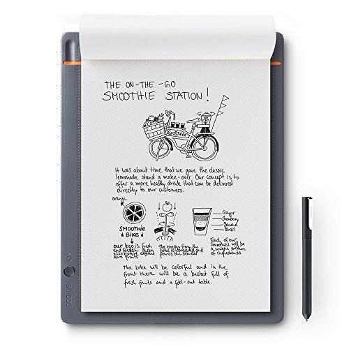 Wacom CDS-810S Bamboo Slate Digitalizzatore di Appunti e Disegni su Carta, Compatibile con Smartphone e Tablet Android, iOS e Windows, Grigio chiaro, A4