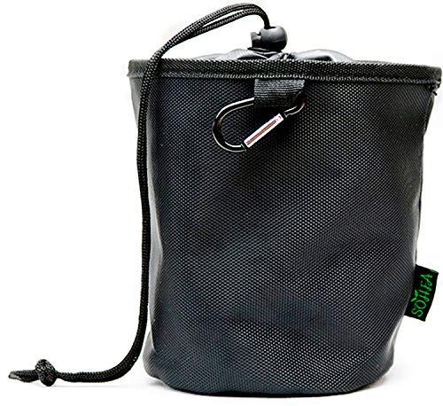 SOHFA Wäscheklammerbeutel mit Karabinerhaken zum aufhängen - Klammerkorb aus engmaschigen Stoff - Klammerbeutel für bis zu 150 Wäscheklammern