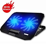 10-15.6' Office Laptop Cooling Pad (Big 2Fans Super Quiet, Double Sides Built-in USB Line, Back Feet Stand) …