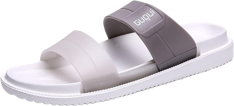 Women's Flat Sandals Comfort Footbed Slides Home Beach Bathroom Slip on Slippers Flip-Flops