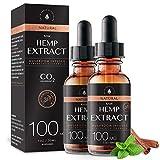 Raw Hemp Oil - 100MG - Cinnamint Flavor - Mushroom Infused for Enhanced Efficacy, Made in USA - Rich in Omega 3-6-9 Fatty Acids, Kosher, Non-GMO. White Cedar Naturals