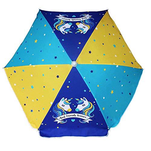AMMSUN 47 Inch Seaside Beach Umbrella for Sand and Water Table - Kids Durable umbrella Beach Camping Garden Outdoor Play Shade