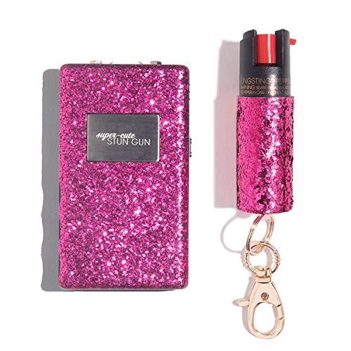 Super-Cute Pepper Spray & Stun Gun Pink Combo Safety Set - Carry Two Powerful Self Defense Products...