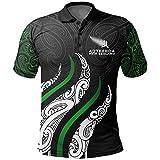 DSDFD Maillot de Rugby décontracté Maoris, Polo de Rugby à Manches Courtes Noir pour Hommes, t-Shirts de Rugby édition spéciale, Grande Taille S-XXXXXL XXXXL Black