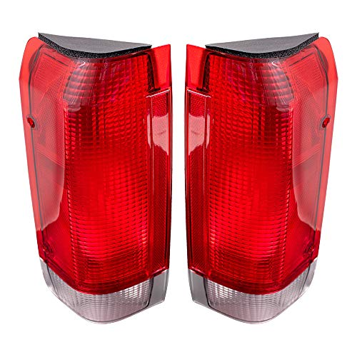 Driver and Passenger Taillights Tail Lamps Replacement for 1987-1989 F-Series Styleside Pickup Truck Bronco E7TZ13405A E7TZ13404A