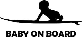 Oedim Pegatina Baby on Board Negro | 21 x 10 cm | Adhesivo de Fácil Colocación | Pegatina para Coche Económica y Resistente