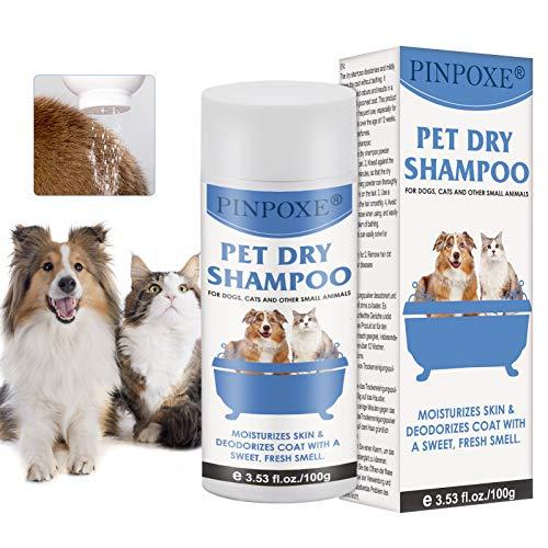 Shampoo a Secco per Cani, Shampoo Secco in Polvere,...