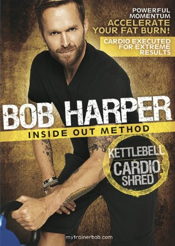 GoFit Bob Harper Inside Out Method – KettleBell Cardio Shred Workout DVD, Cardio Fitness, Maximum Fat Burn, by GoFit