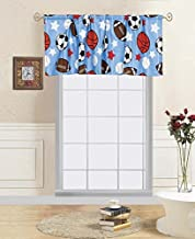 GorgeousHome GAME DAY Design Blue Red Deluxe Kids/Teens Boys Complete Bedroom Decor Comforter/Sheet Set or Window Dressing Curtain Panel or Valance (1PC WINDOW VALANCE)