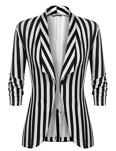 Unibelle Dames Blazer Cardigan Dunne 3/4 Langere Elegant Licht Bolero jas Blazer Slim Fit pak Trenchcoat