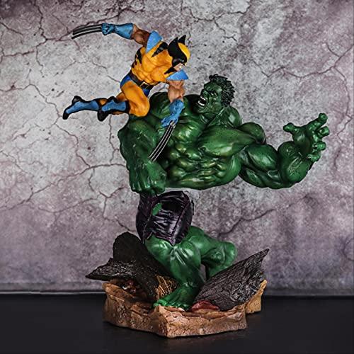 QWYU 33 Cm X-Men Wolverine Vs Hulk Action Figure Toy Gift
