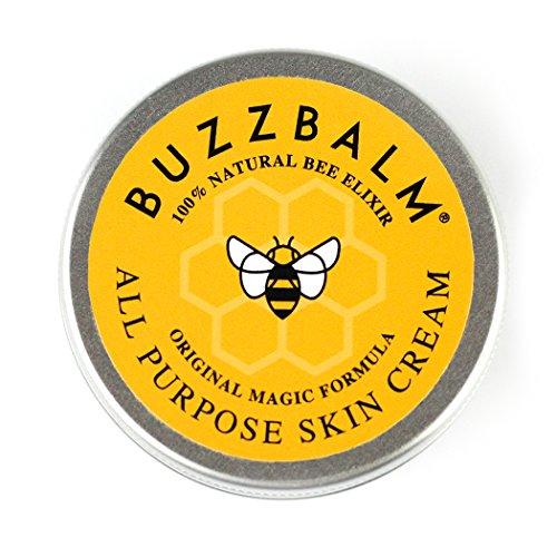 BuzzBalm Naturelle Crème Hydratante Visage Bio Homme Femme Crème Peau Sèche avec Propolis et Miel - Idéal pour les Peaux Très Seches Soin Visage Main Corps (50g)