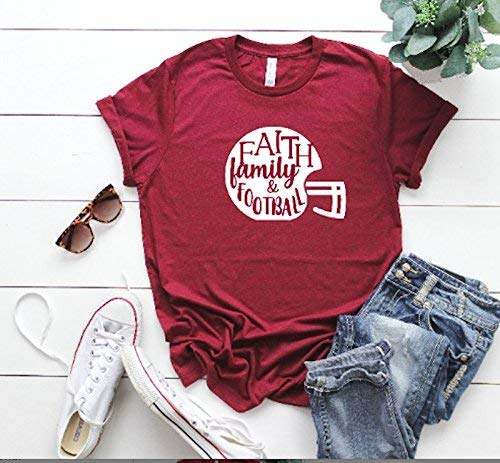 Tis The season Fall Football Shirt Football Pumpkins Leaves and Coffee Tee Bella 6004 Women/'s T-shirt,
