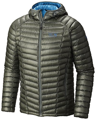 Mountain Hardwear Men's Ghost Whisperer Hooded Down Jacket, Thunderhead Grey, S