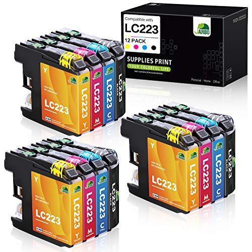 JARBO Ersatz für Brother LC-223 LC 223 Druckerpatronen Multipack kompatibel mit Brother MFC-J5320DW MFC-J5620DW MFC-J5720DW MFC-J480DW MFC-J4420DW MFC-J4620DW DCP-J4120DW DCP-J562DW, 12er-Pack
