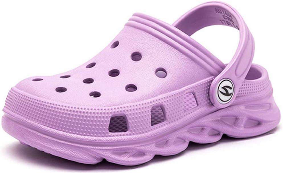 HOTRA Unisex Children's Cute Clogs Comfortable Slip-on Platform Shoes Outdoor Soft Beach Walking Shower Shoes Garden Shoes (Color : Purple, Size : 23 EU)