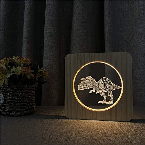 Dinosaurier 3D USB LED Arylic Nachttischlampe Tischnachtlicht Carving Tischlampe Kindergeschenk Raumdekoration