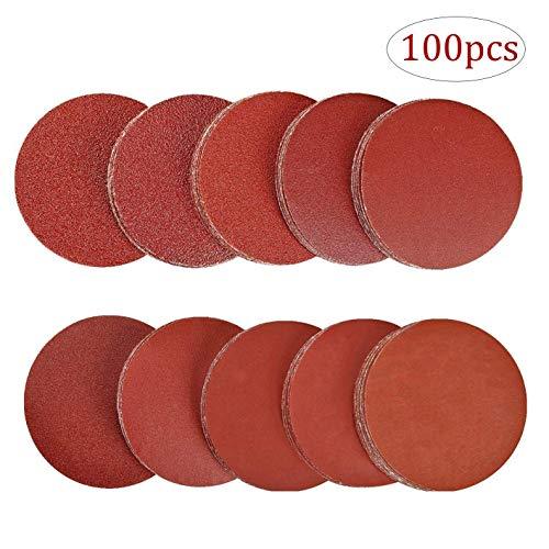 Disco de Lija - WENTS 100 piezas 125 mm Grano Cada Discos de Pulir Velcro...