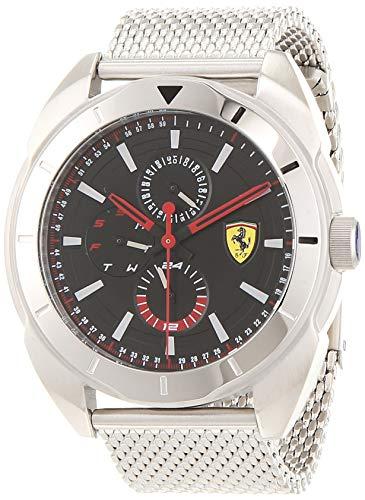 Scuderia Ferrari Herren Multi Zifferblatt Quarz Uhr mit Edelstahl Armband 830637