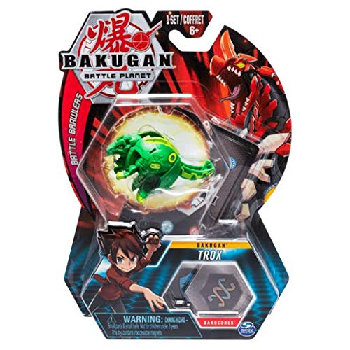BAKUGAN 5cm Tall Action Figure and Trading Card - Trox