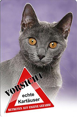 +++ KARTÄUSER Katze - Metall WARNSCHILD Schild Katzenschild Sign - CAT 04 T3