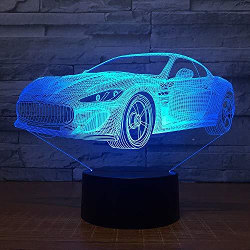 HNXDP Moderne Super Sportwagen 3D 7 Farbe Lampe Visuelle Led Nachtlichter Für Kinder Touch Usb Tisch Lampara Lampe