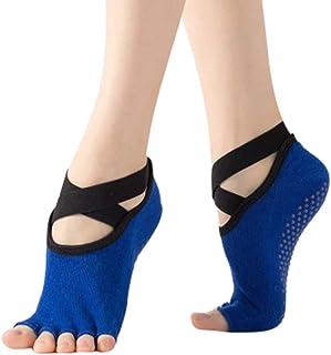 Yoga Socks For Women And Non Slip Toeless Half Toe Socks For Ballet Dance Backless Five-Toed Yoga Socks Non-Slip Ballet Floor Socks Five-Finger Socks Yoga Socks
