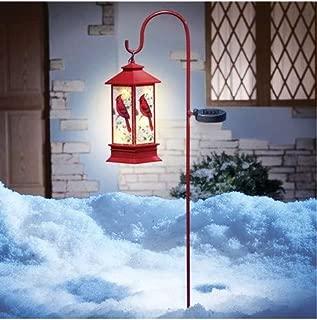 christmas cardinal lantern path lights