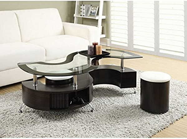 Coaster 720218 CO Coffee Table With Stools In Cappuccino