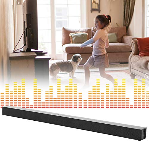 Eosnow Transmisión de música inalámbrica Home Theatre TV Barra de Sonido Barra de Sonido Bluetooth Aspecto Elegante para Suministros de Altavoces de Home Theater(Transl)