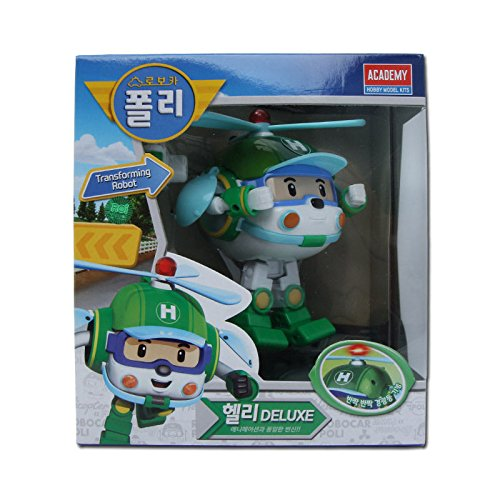 Robocar Poli Deluxe Transformer Toys Academy Robot Action Figures Korean Animation Kids Gift [Helli] by Academy