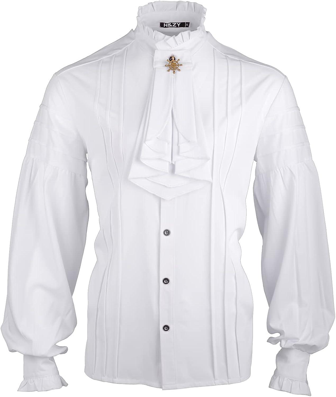 HZY Mens Mail lowest price order cheap Pirate Shirt Vampire Renaissance Medieval St Victorian