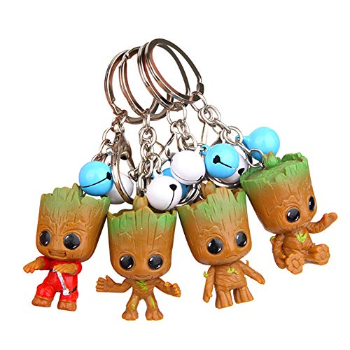 Kacoco Groot Keychain, 4Pcs Guardians of The Galaxy Groot Baby Key Rings, Best Gift for Friends and Family