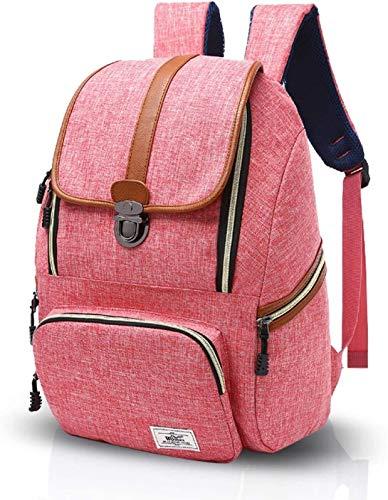Samantha Mochila de Viaje Bolsa de Viaje Mochila de Gran Capacidad Mochila Retro Hombres y Mujeres Mochila de Viaje al Aire Libre (Color : Pink)