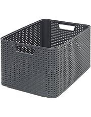 Curver Style 205852 pudełko do przechowywania rattanowy wygląd rozmiar L polipropylen drugiej generacji