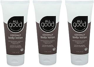 All Good Hand & Body Lotion w/Essential Oils - Moisturizing Organic Lotion w/Calendula, Cocoa Butter, Coconut & Rose Hip O...