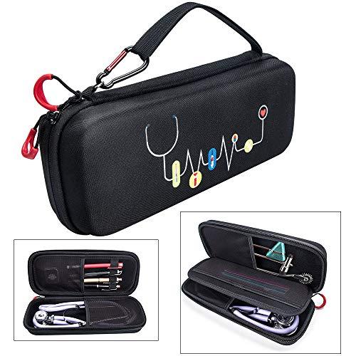 Eyglo Stethoskop Tasche Tragetasche für 3M Littmann/MDF Acoustica/Omron/ADC/Dixie EMS Stethoskop Schutzhülle Tragetasche Wasserdicht Tragbar