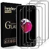 ivoler 4 Unidades Protector de Pantalla para iPhone SE 2020 / iPhone SE 2 / iPhone 8/7 / 6S / 6, Cristal Vidrio Templado Premium [9H Dureza] [Alta Definicion 0.3mm] [2.5D Round Edge] - Transparente