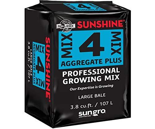 SunGro Horticulture SUGRMIX4 3.8-Cubic Feet Compressed Sungro Sunshine Basic 4 Mix for Plants