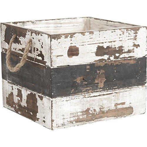 Cache-pots en bois vieilli - lot de 3