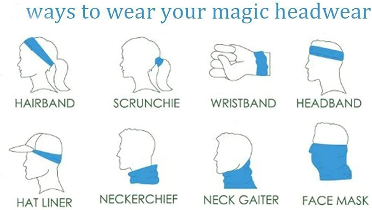 FQJNS Balaclava Neck Gaiter Bandanas Headwear Headwraps Face Scarf Mask Men Women Neckerchief Wristband