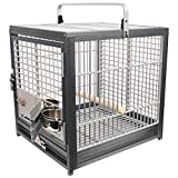 King's Cages ATS 1719 Aluminum Small Travel Carriers CAGE (Silver/Silver.)