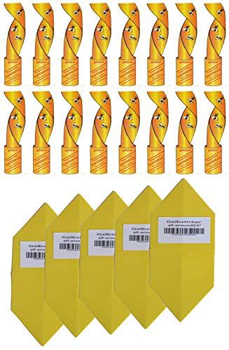 Fliegenfänger Rollen, Insektenfänger, Fliegenfalle Umweltfreundlich giftfrei+ XL Gelbe Tafeln Gelbsticker