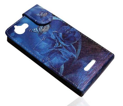 wicostar Custodia Flip Style–Design No. 1–Custodia Cover Case per Sony Xperia L S36h