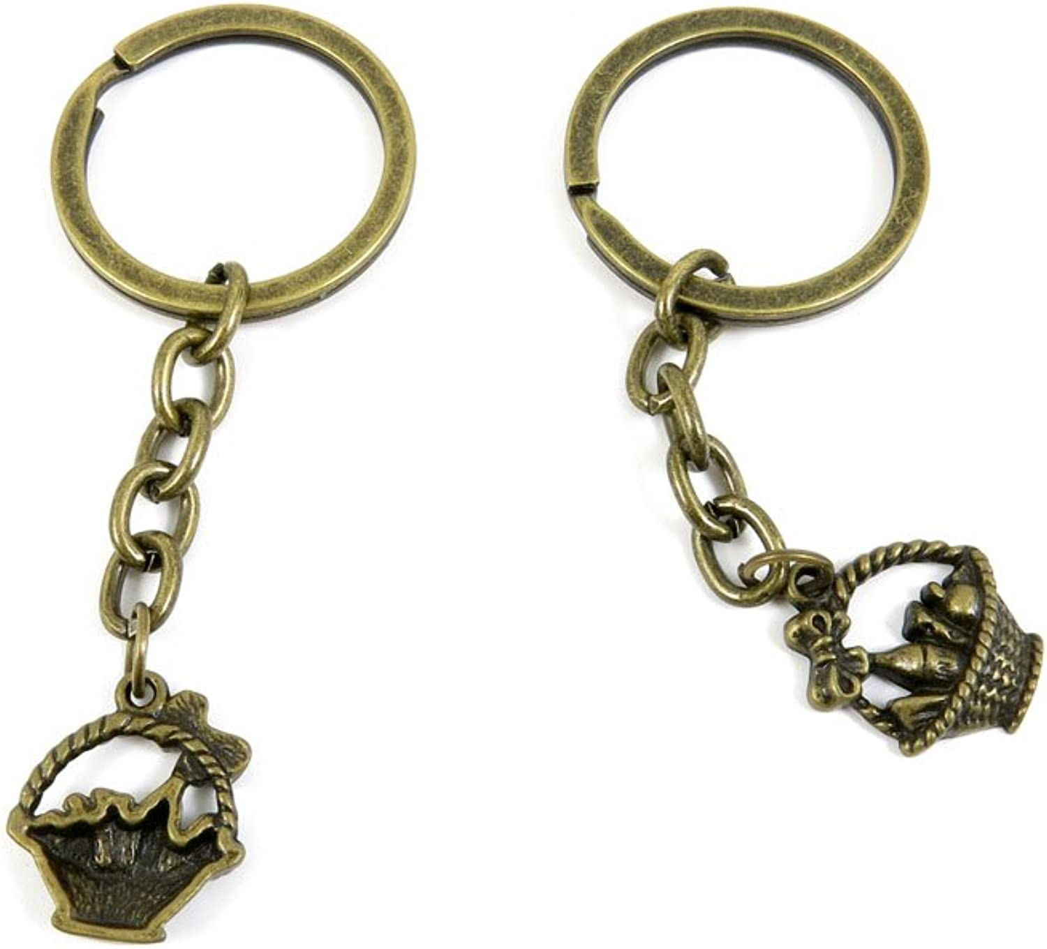 80 PCS Keyring Car Door Key Ring Tag Chain Keychain Wholesale Suppliers Charms Handmade R5SI3 Vegetable Basket