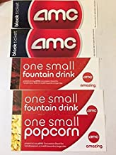 AMC BLACK Movie Ticket combo for two w/ 2small drinks and 1 small popcorn